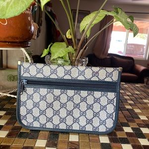 💙❤️Gucci Vintage Sherry GG Coated Canvas Pouc ❤️